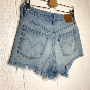 Levi's Shorts - LEVI'S 501 Distressed Denim Cut-Off Shorts